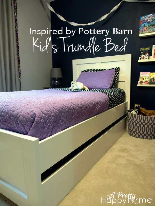 Pottery Barn Trundle Bed Knock Off A Pretty Happy Home