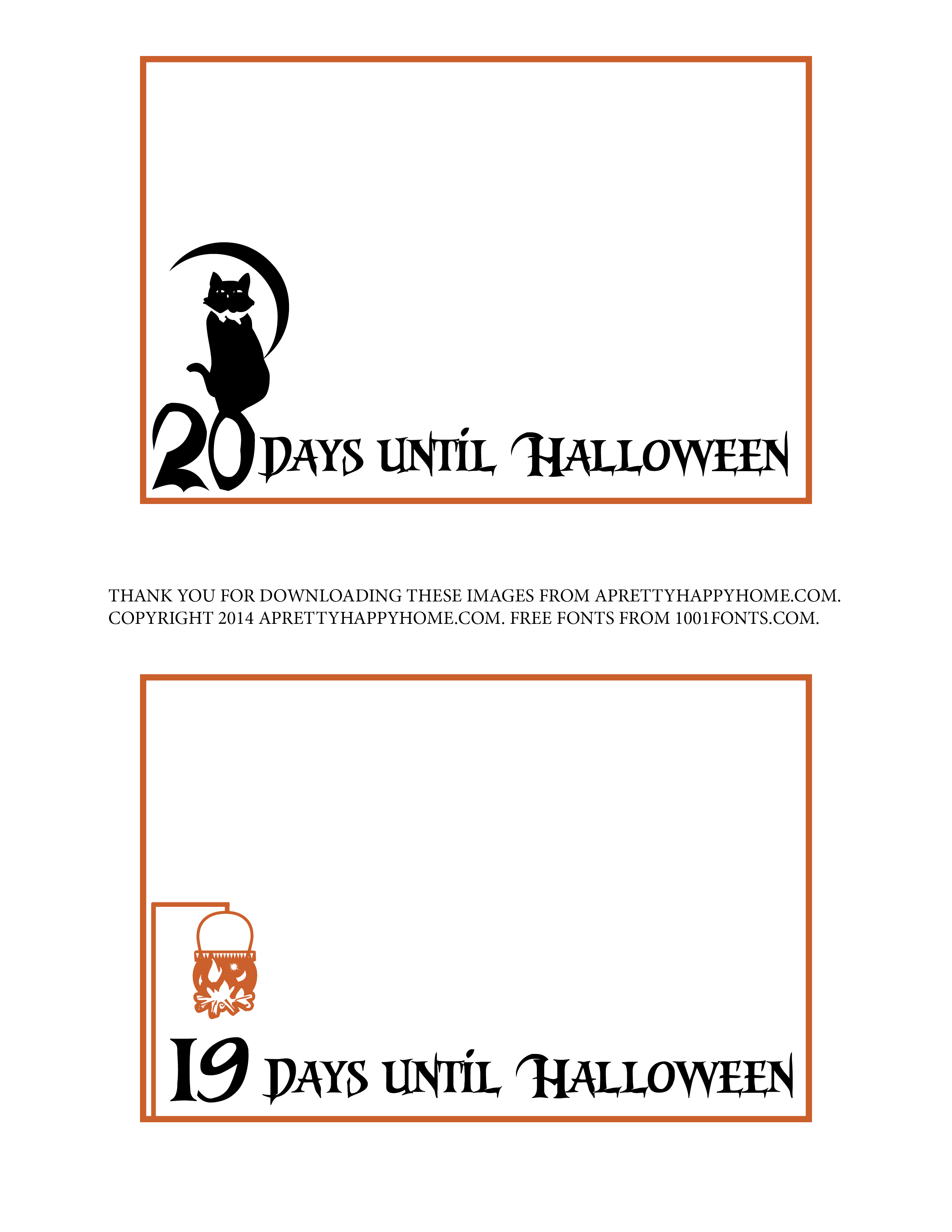 halloween countdown lunchbox notes u2013 free printable a pretty