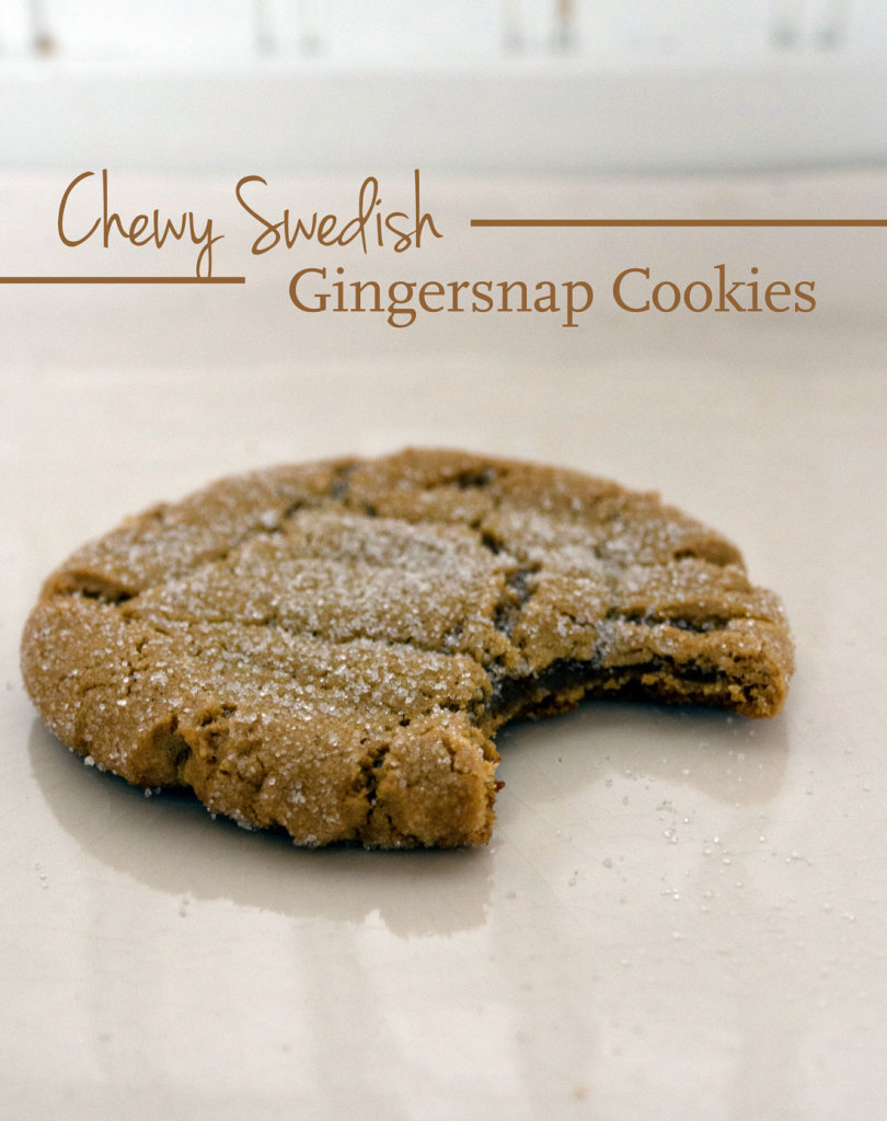 Chewy Swedish Gingersnap Cookies - A Pretty Happy Home