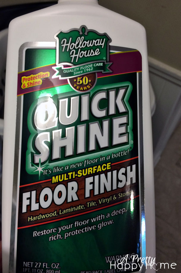 Using Holloway House Quick Shine Floor Finish A Pretty