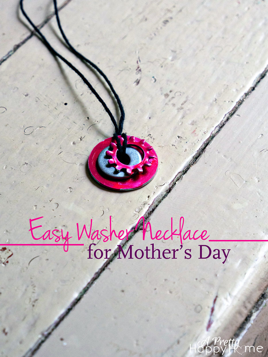 easy diy necklace for mother s day kid craft a pretty