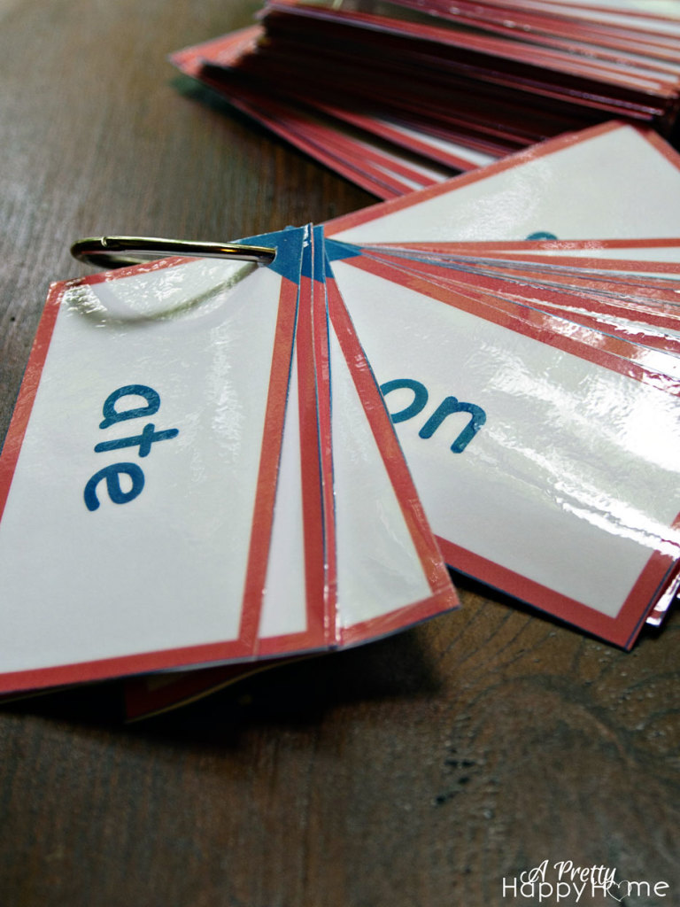 kindergarten sight word flash cards - free printable