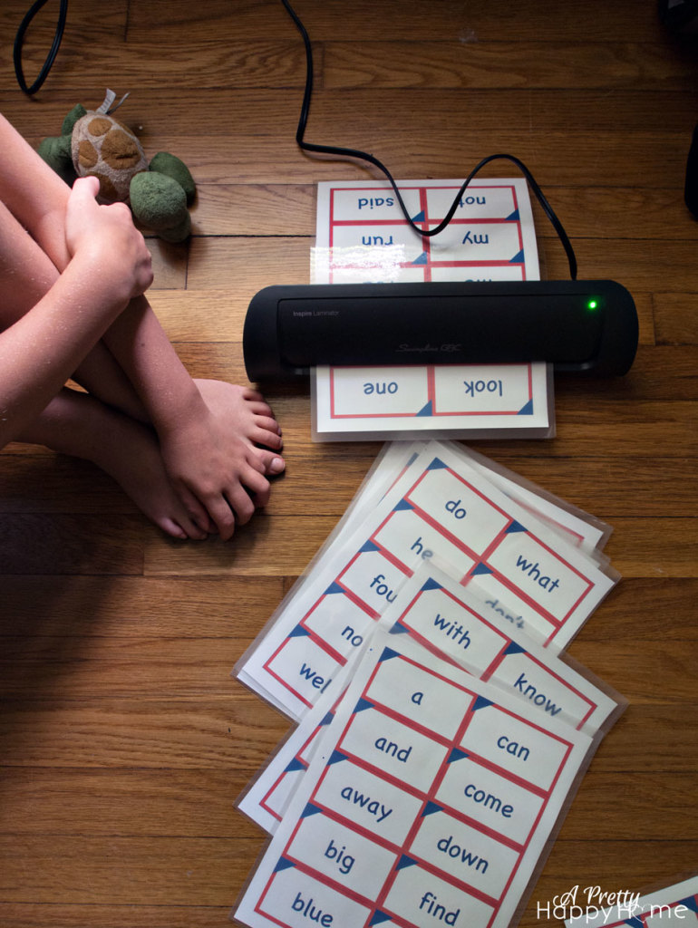kindergarten sight word flash cards - free printable