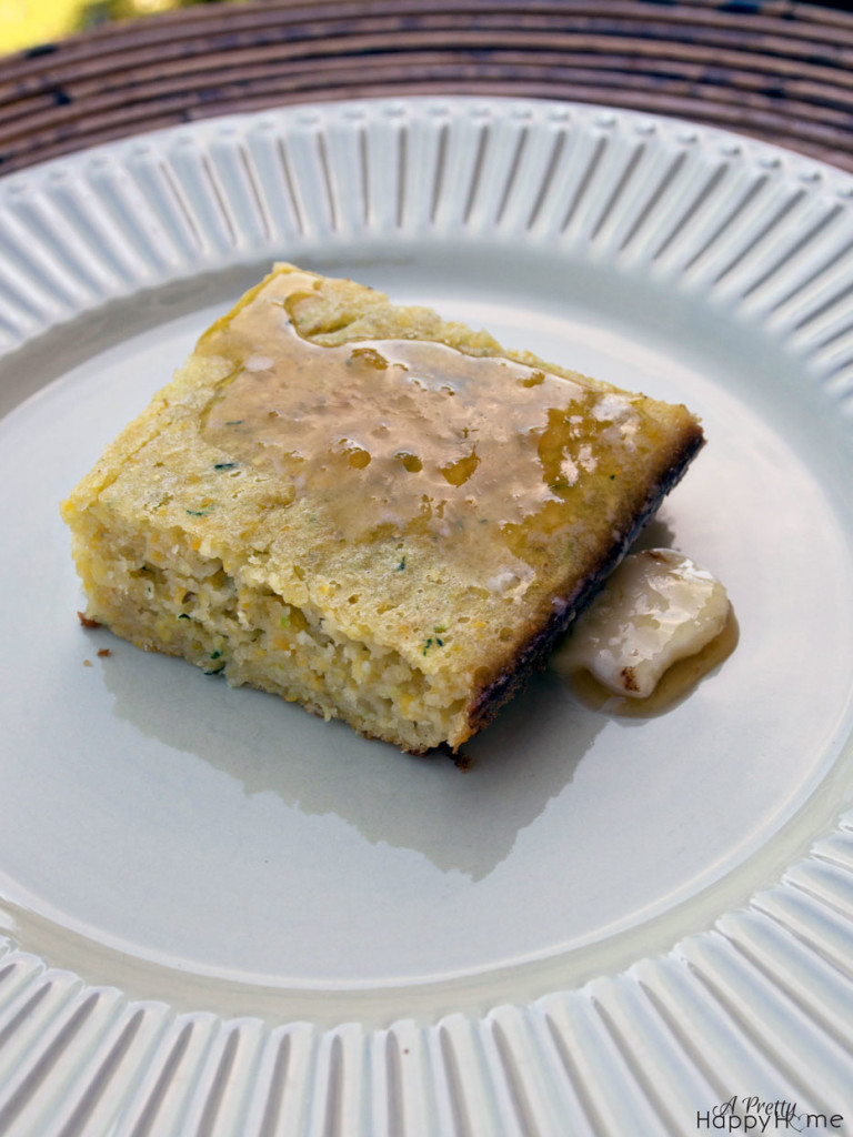 zucchini cornbread recipe | A Pretty Happy Home