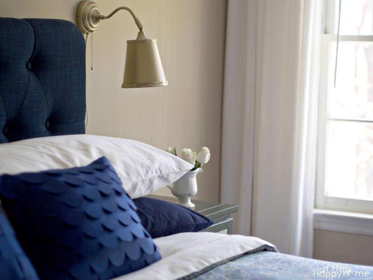 Wall Lamps Next To Bed : spray painting ikea lamps A Pretty Happy Home
