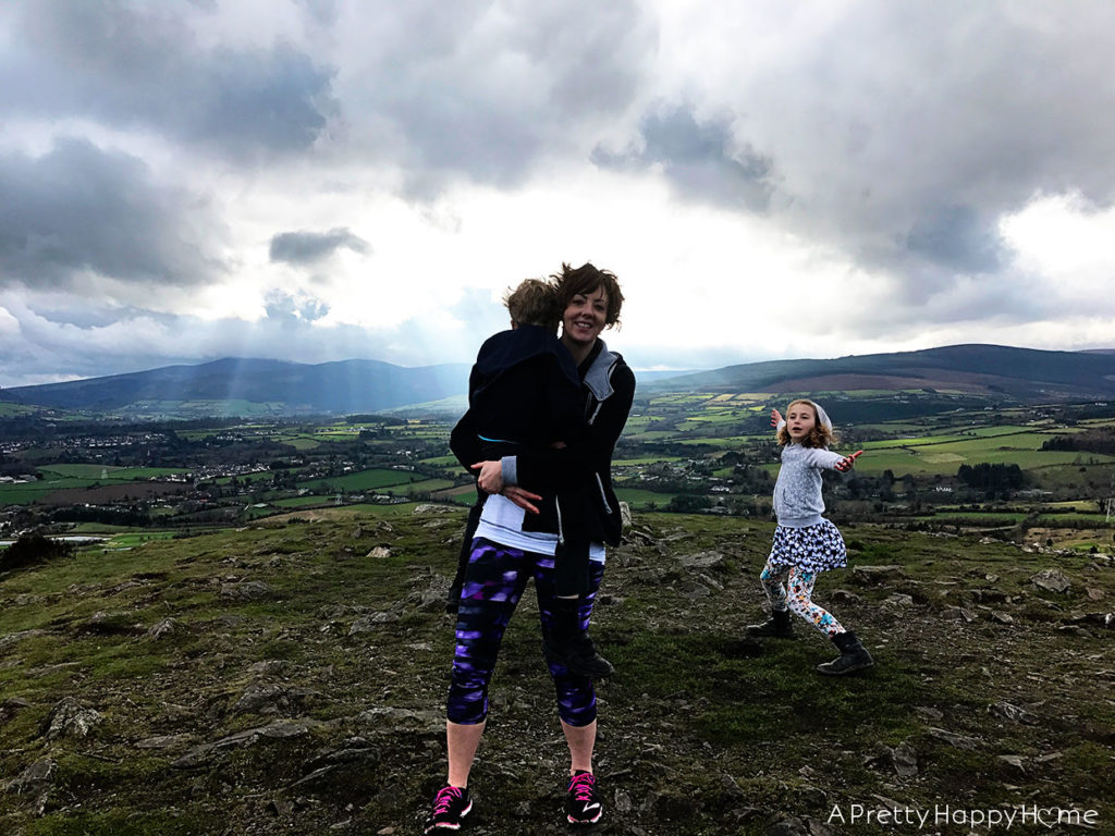 hiking in ireland with kids on the happy list