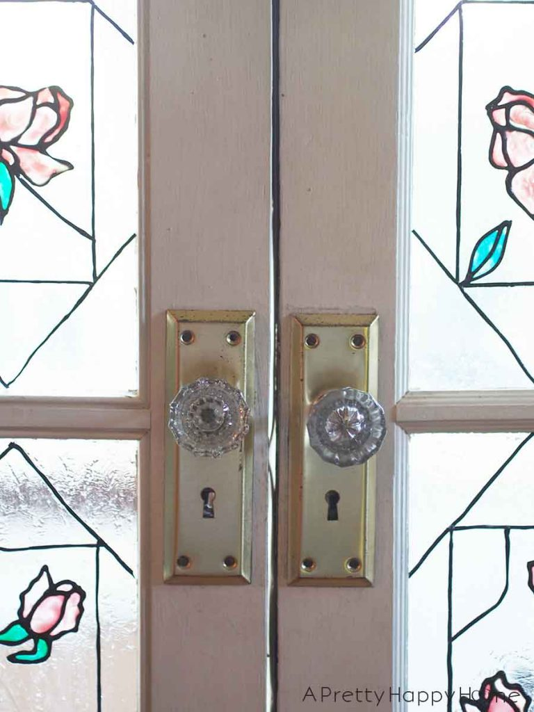 The Doors of Our Colonial Farmhouse glass door knob