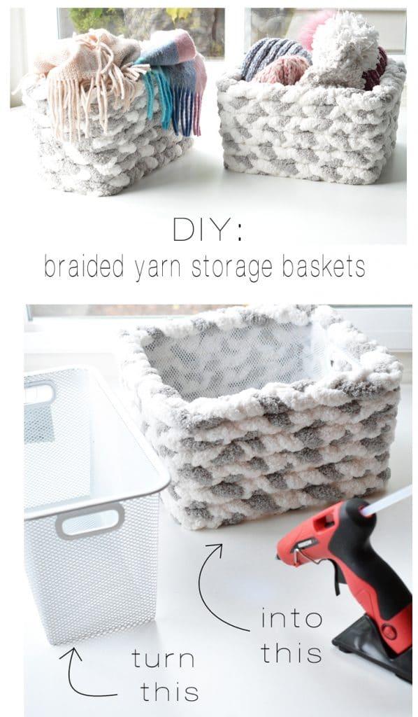 braided yarn storage baskets centsational style on the happy list