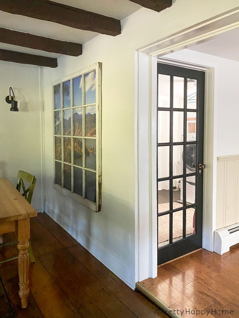 black painted doors