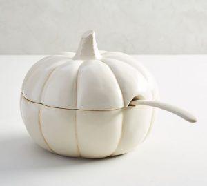 pumpkin soup tureen pottery barn
