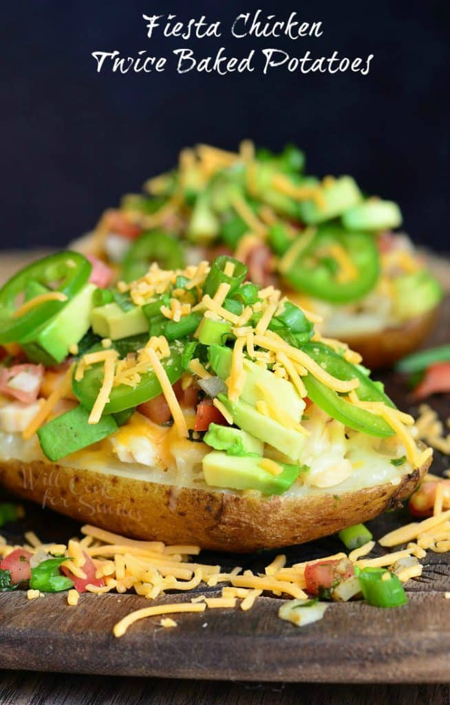 fiesta chicken twice baked potatoes from willcookforsmiles.com for the36thavenue.com on the happy list