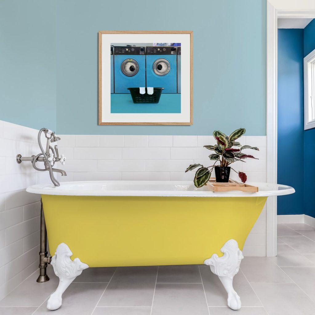 helga stentzel household surrealism bathroom art washing machine on the happy list