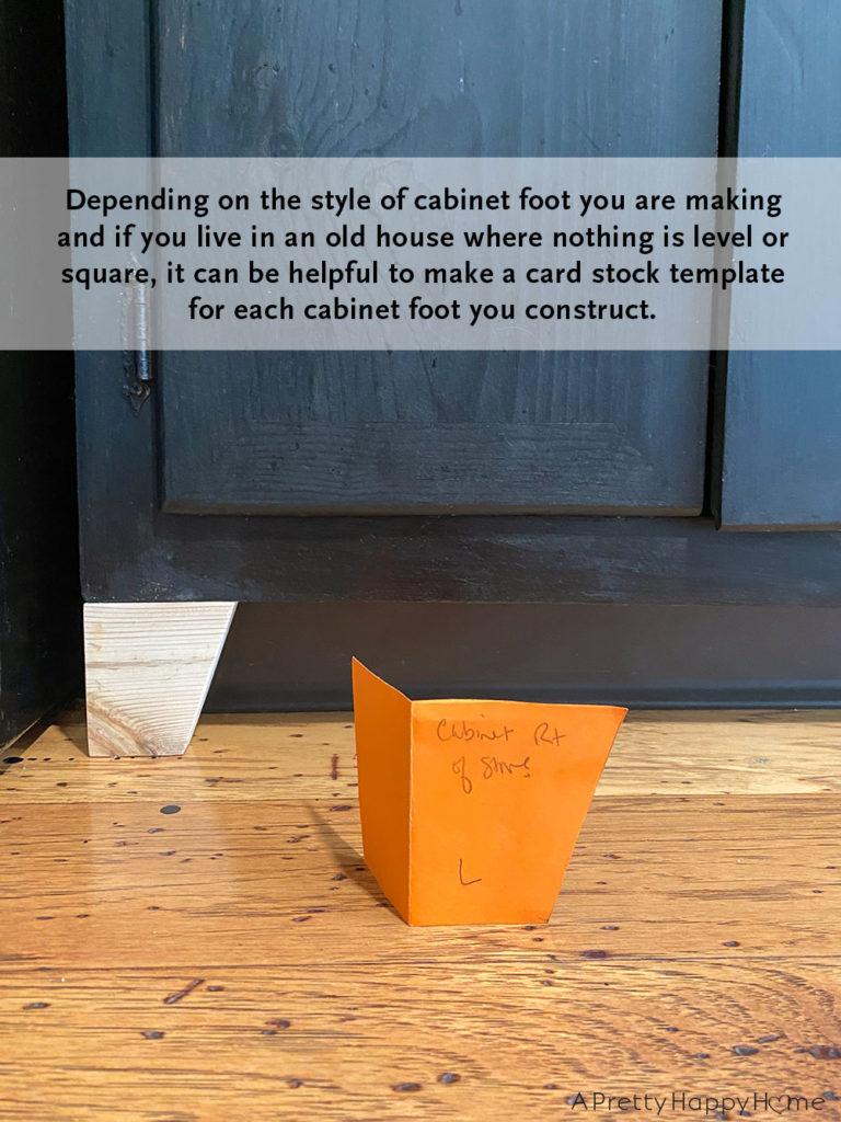 DIY Kitchen Cabinet Feet from Scrap Wood