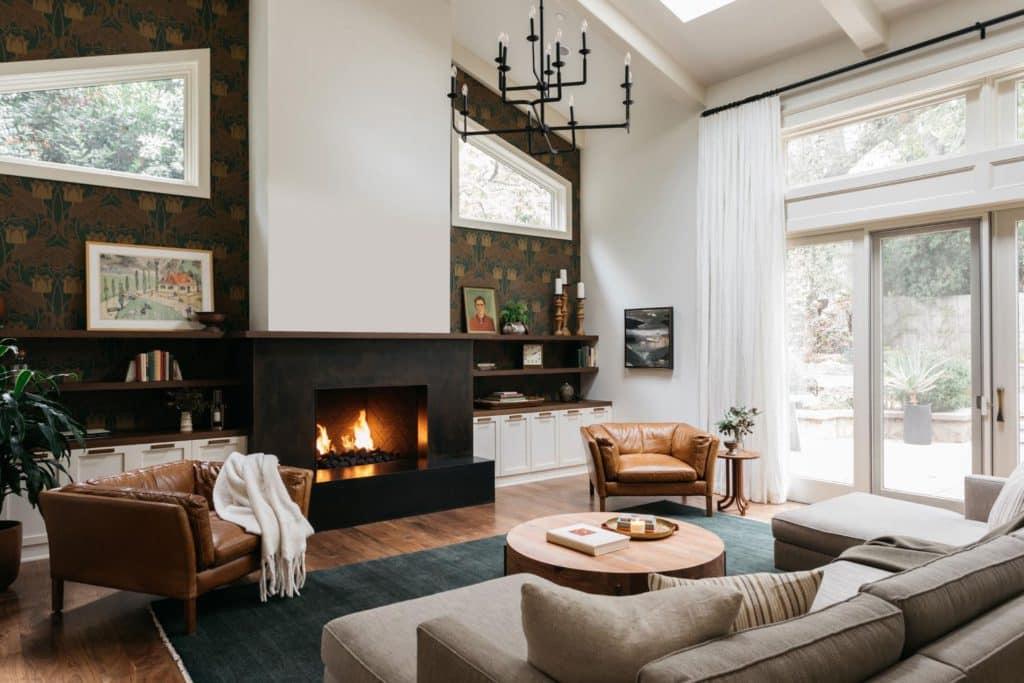 a 1000x better fireplace via Rue Magazine on the happy list