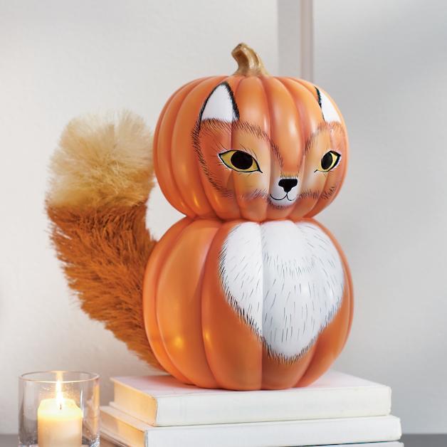 woodland fox pumpkin grandin road