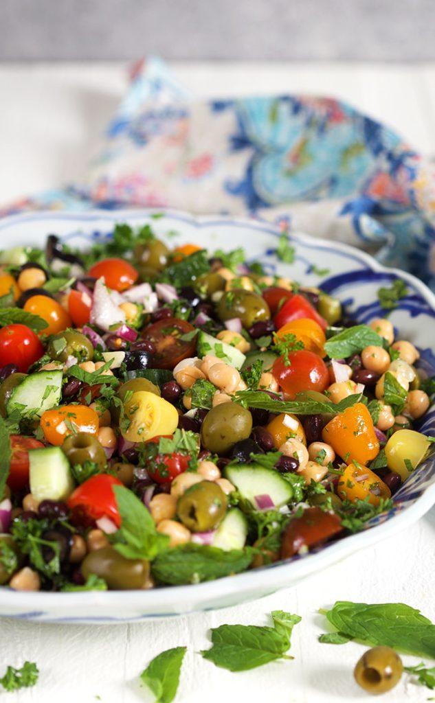 mediterranean chickpea salad the suburban