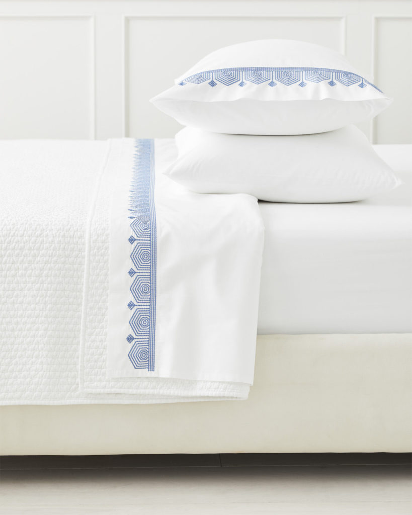 serena and lily olympia embroidered pillowcases