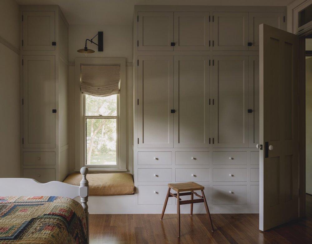 built in wardrobe iowa city jessica helgerson design via the nordroom on the happy list