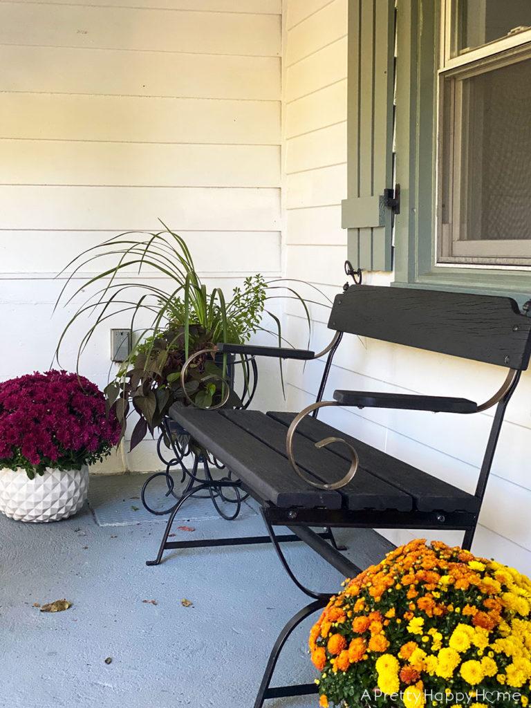 Our Not Quite Fall Front Porch farmhouse front porch