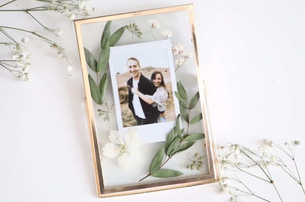 orenda crafted etsy pressed flower art polaroid