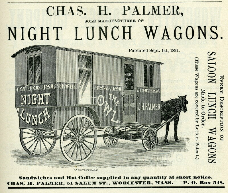 worcester historical museum night lunch wagon via atlas obscura on the happy list